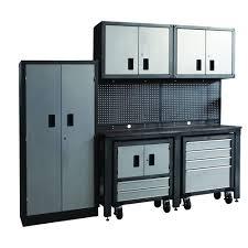 home depot garage storage cabinets. international gosii garage organization system, black and gray (8-piece) home depot storage cabinets r