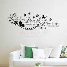 fancy style erfly flower live epic live laugh love wall decal