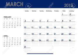 Monthly Calendar 2013 Monthly Calendar For 2013 Year March Start On Sunday With