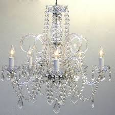 venetian 5 light 24 inch chrome glass dining chandelier ceiling light in clear crystals
