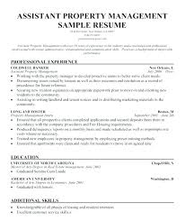 Property Management Resume Samples Property Manager Resume Mmventures Co