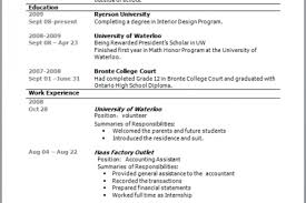 How to compose your Co op Resume Ryerson Department of