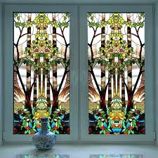 stained glass stained glass to church colored frosted window decorative sticker self adhesive