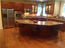 Stone Floors In Kitchen Craftsman Kitchen With L Shaped Hardwood Floors In Davidsonville