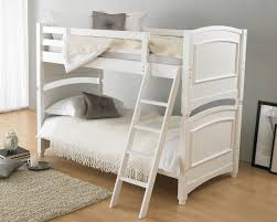 colonial white wooden bunk bed
