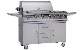 bull premium 7 burner gas barbecue cart