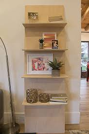 build a minimalist plywood leaning shelf from just one sheet of plywood perfect for displaying photos and other lightweight home decor wall shelves j37