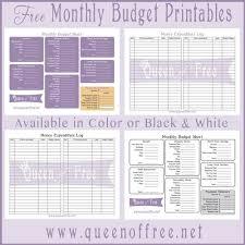 Free Printable Budget Forms Budgeting Budgeting Money