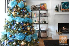 Exciting Blue And Gold Christmas Tree 30 About Remodel Home Decor Blue Christmas Tree Ideas