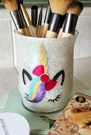 if you are a fan of unicorns check out my post on how i made this cute glitter makeup brush holder here
