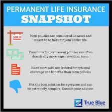 permanent life insurance snapshot