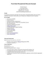 Resume Examples Receptionist Pinterest Receptionist Jobs