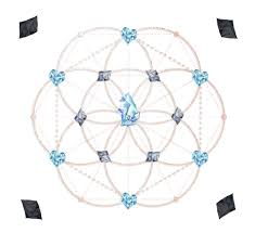 Crystal Grid Patterns Simple Your 48 Crystal Grid For Abundance Wealth Money Now Integral