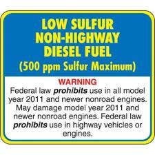 low sulfur deisel api low sulfur diesel decal api lsd nh