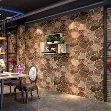 Vinyl Wallpaper 3D Brick Stone Modern ...