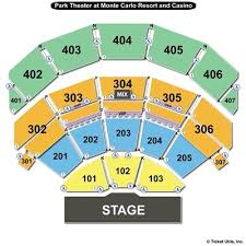 Park Mgm Theatre Seating Chart 36 Judicious Park Theatre Seating Chart