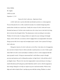 exploratory essay final draft mind thought