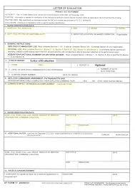 af form 910 af form 77 letter of evaluation loe