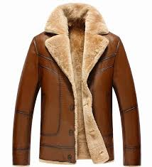 celebleather sheep leather men s leather jacket sheepskin stitched wool coat cf 1546 brown