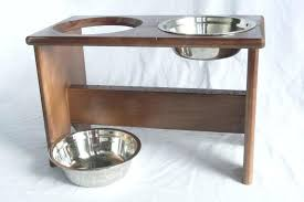 elevated pet bowl elevated dog bowl stand wooden 2 bowls mm tall elevated dog bowl stand