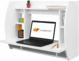 wall mounted corner desk floating