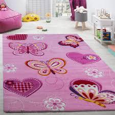child s bedroom rug children s rug with erfly motif contour cut pink