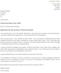 General Assistant Cover Letter Example Icover Org Uk