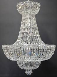large strass tent and bag chandelier ca 1980