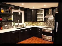 Dark kitchen cabinets with light countertops and floors YouTube