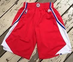Adidas Nba Shorts Size Chart Nba Los Angeles Clippers Mens Adidas Red Basketball