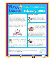 February Newsletter Template Back To School Newsletter Template