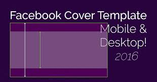 facebook cover photo mobile and desktop template