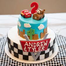 2 Tier Race Car Birthday Cake Cakeman