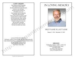 Funeral Program Template Sample Simple Funeral Program