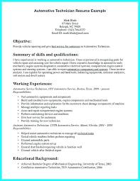 Sample Resume Auto Mechanic Automobile Mechanic Sample Resume Podarki Co