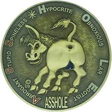 Amazon.com: I work for an Ass Hole coin: Toys & Games