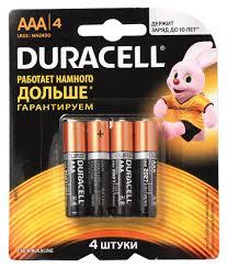 <b>Батарейки AAA Duracell</b> MN2400 (4 шт.) алкалиновые / Купить с ...