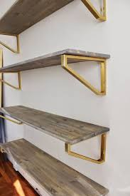 diverse diy suspended shelves that add flavor to your décor throughout wood wall shelves with brackets