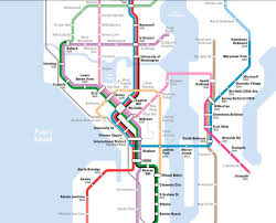 Seattle Transit Map Light Rail Latest Seattle Subway Vision Map Refines The Metro 8 Line