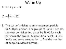 writing two step equations 2 warm