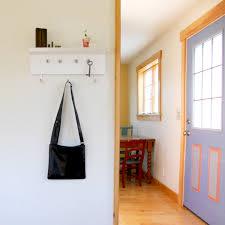 White Wall Mounted Coat Rack With Shelf Small White Painted Pine Wood Wall Coat Rack With Narrow Shelf of 62