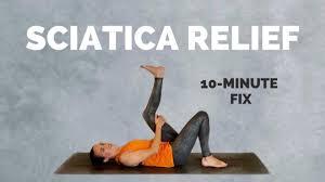 yoga for sciatica pain relief 10 min