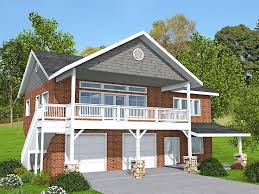 garage apartment plan for a sloping lot