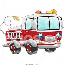 Fire Engine Design Studio Royalty Free Vector Of A Blue Eyed Fire Truck Logo By Bnp