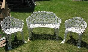 white iron patio furniture. Perfect Patio White Metal Patio Furniture Iron  In H