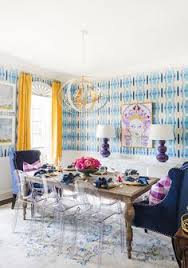 20 one room challenge makeovers that left us in awe bold wallpaperblue roomsdining
