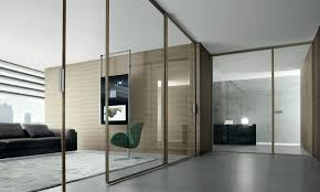 modern clear and full interior glass door