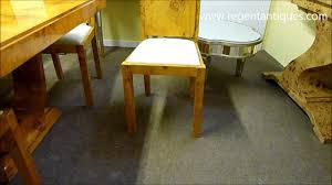 stunning art deco birdseye maple dining table 8 chairs 01504wmv art deco dining table 8
