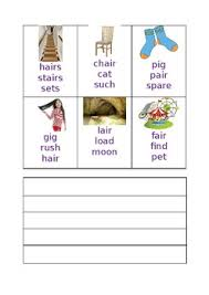 Initial phonic sounds for young learners. Phonics Worksheet Air Sound By Joanne Morris Teachers Pay Teachers
