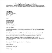 Examples Of Resign Letters Simple Resignation Letter Template 28 Free Word Excel Pdf